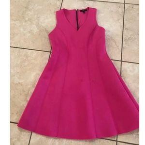 Hot Pink Neoprene Monteau Sundress/Mini-Dress